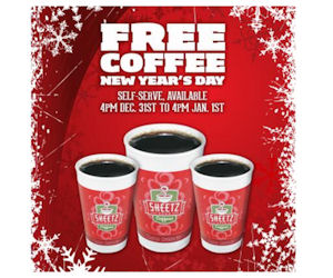 Visit Sheetz On New Years Eve & New Years Day for Free Coffee