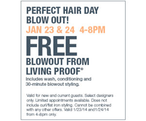 Book a Free Living Proof Blowout at Ulta on 1/23 or 1/24