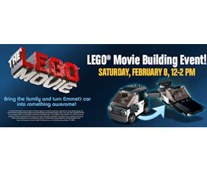 Lego Movie Building Event - Free at Toys R Us  on February 8th