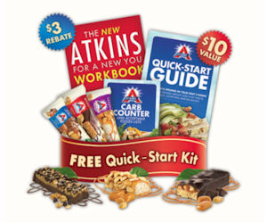 Claim a Free Atkins Quick Start Kit with 3 Free Atkins Bars